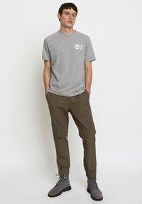 Timberland - WOODWOOD - Print T-shirt - grey - 1