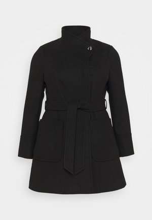 BELTED COAT - Cappotto classico - black