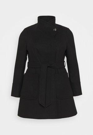 BELTED COAT - Classic coat - black
