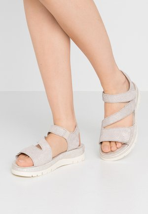 Platform sandals - pepper/light gold
