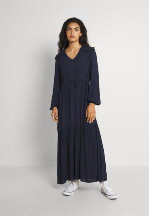 VIPOMPO TIE BELT MEDI DRESS - Kjole - navy