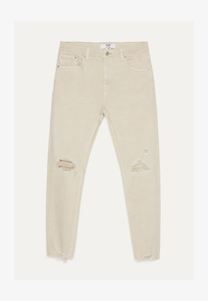 MIT RISSEN  - Jeans Skinny Fit - beige