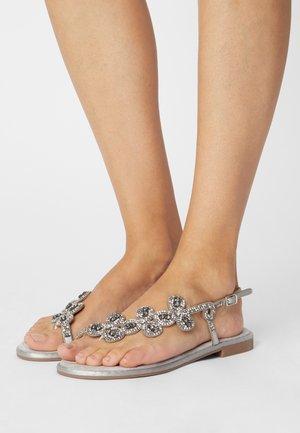 T-bar sandals - grigio