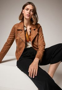 comma - Faux leather jacket - brown - 3