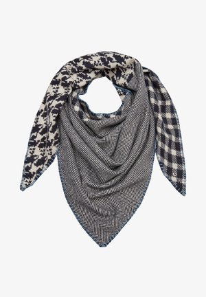 Scarf - dark blue check