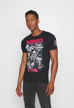BANDIT - Print T-shirt - black