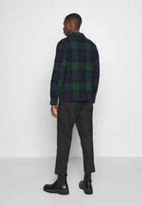 J.CREW - ZIP FRONT BLACKWATCH - Summer jacket - green black - 2