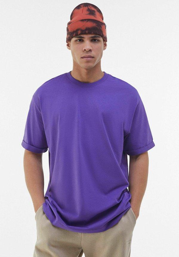 Bershka T-shirt basic - mauve Odzież Męska AZTG