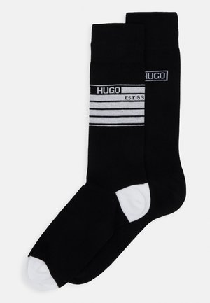 STRIPE 2 PACK - Socks - black