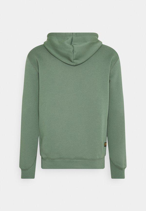 G-Star PREMIUM CORE hooded long sleeve - Bluza z kapturem - teal grey/turkusowy Odzież Męska TXGU