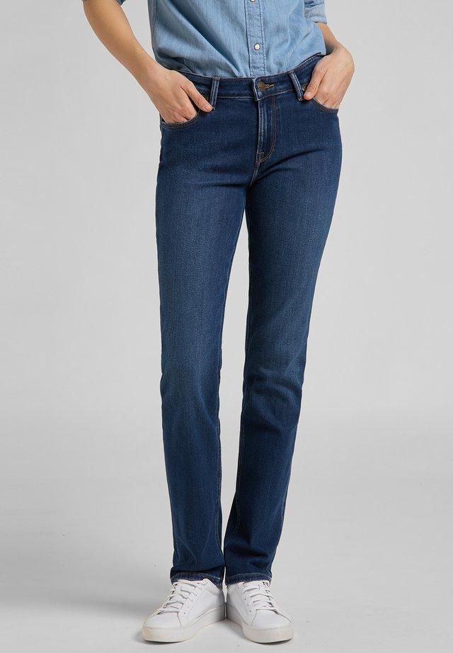 MARION  - Jeans Straight Leg - mottled blue