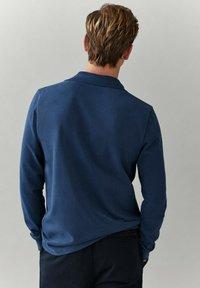 Massimo Dutti - MIT LANGEN ÄRMELN - Polo shirt - blue - 1
