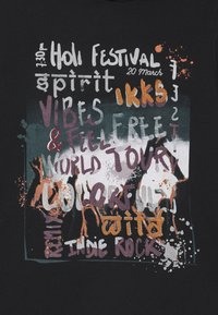 IKKS - HOLOGRAM HOODED - T-shirt à manches longues - noir - 2