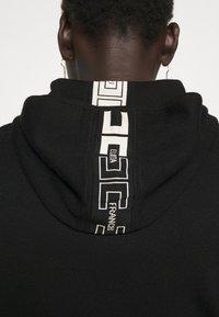 Elisabetta Franchi - Zip-up sweatshirt - nero/burro - 7