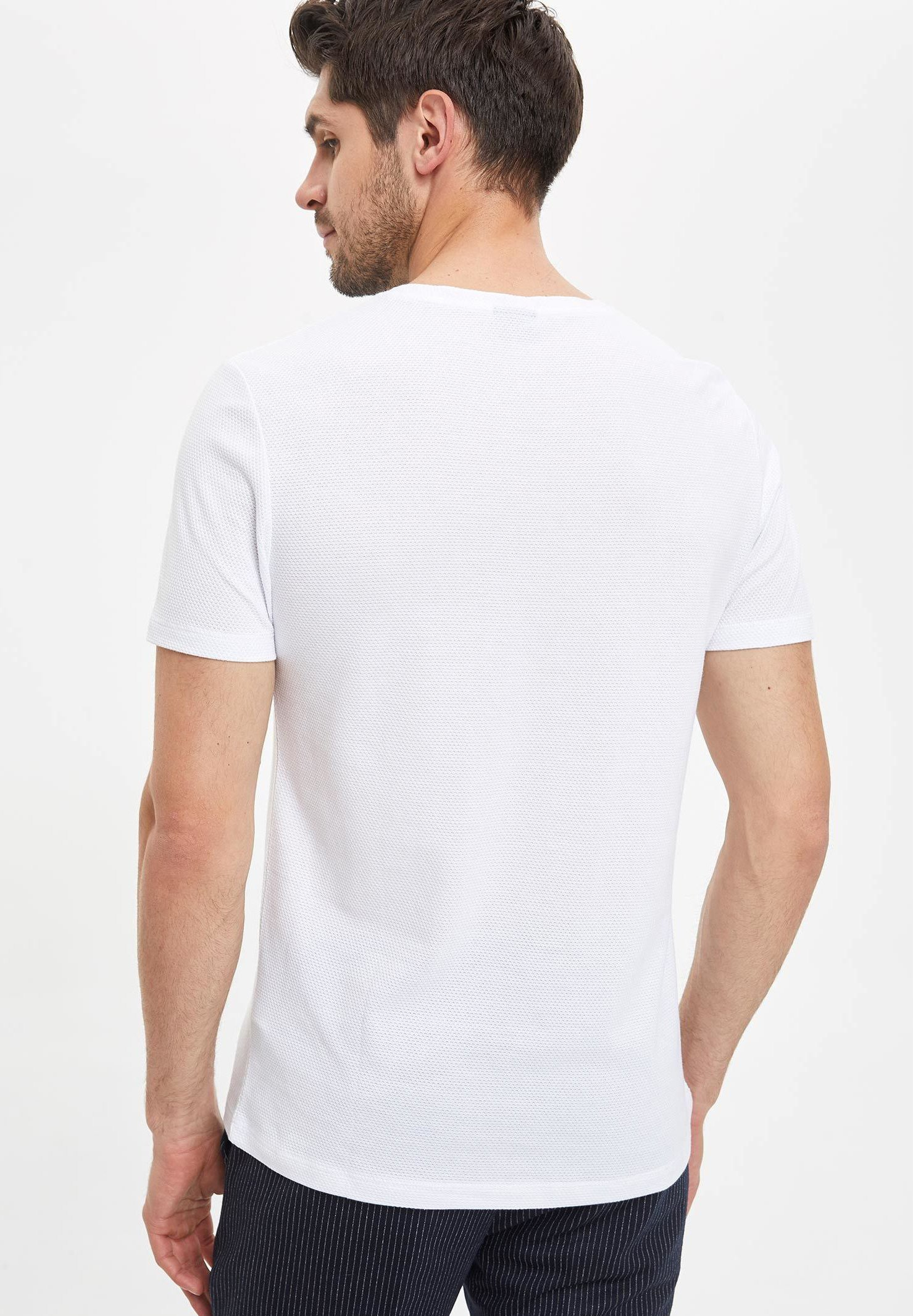 DeFacto Basic T-shirt - white zQFYF