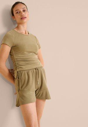 Basic T-shirt - beigegrün