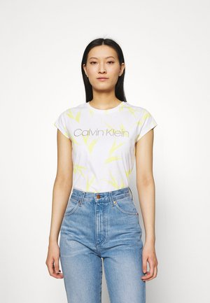 LOGO TEE - T-shirts med print - aurora/bright white