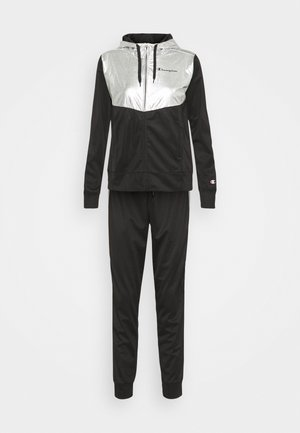 HOODED FULL ZIP SUIT SET - Trainingspak - black