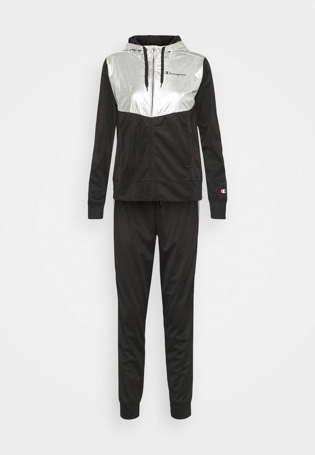 HOODED FULL ZIP SUIT SET - Dres - black