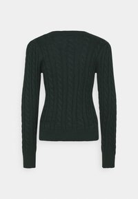 Abercrombie & Fitch - CABLE ICON MOOSE CREW - Jumper - dark green - 1