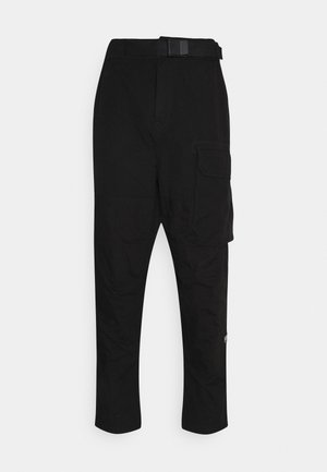 FRONT RELAXED TRAINER - Cargo trousers - dark black