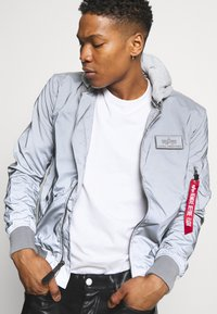 Alpha Industries - HOOD REFLECTIVE - Bomber Jacket - silver - 4