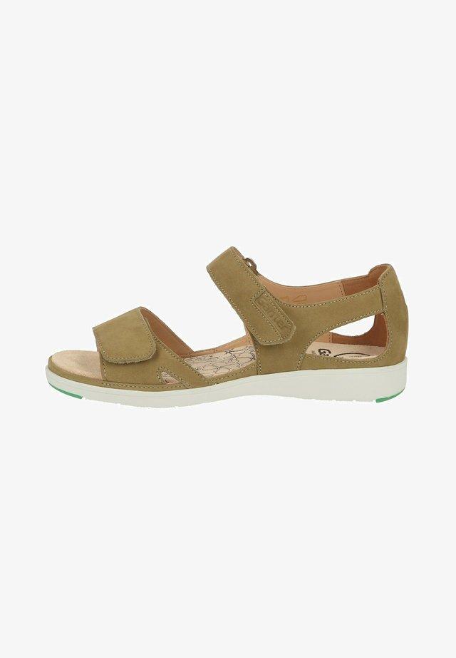 Sandalen - pistazie