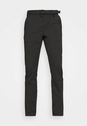 STRUCTURED - Chino kalhoty - black
