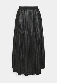 Esqualo - SKIRT - Pleated skirt - black - 0