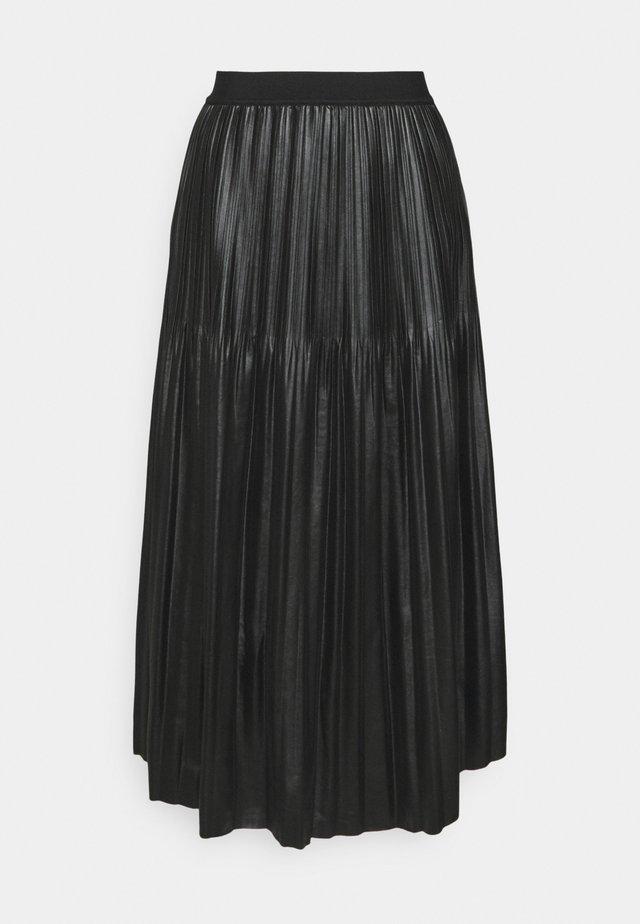 SKIRT - Plisovaná sukně - black