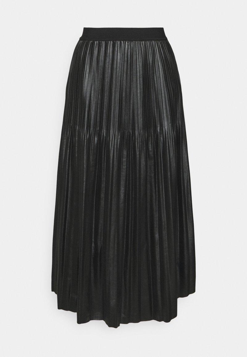 Esqualo - SKIRT - Pleated skirt - black
