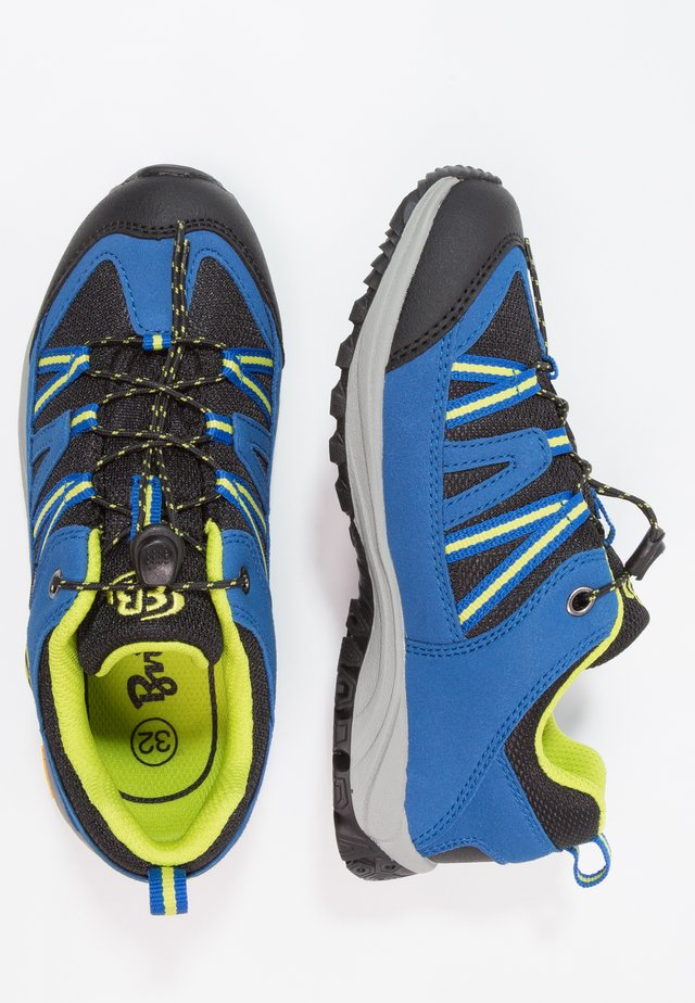 OHIO LOW - Trainers - blau/schwarz/lemon