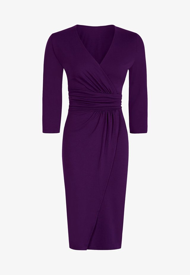 ASCOT  - Shift dress - damson
