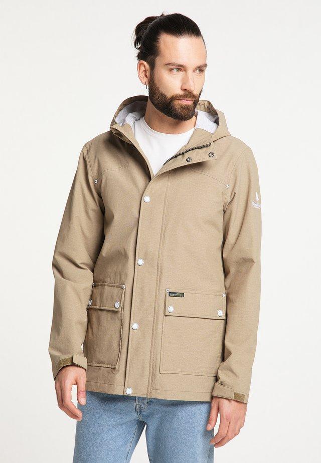 Outdoorová bunda - khaki melange