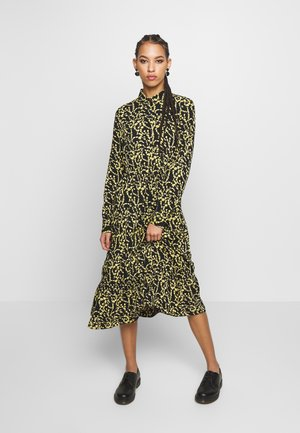 PCNADIN  MIDI DRESS - Shirt dress - black/silhouette flowers