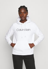 Calvin Klein - CORE LOGO HOODIE  - Hoodie - white - 0