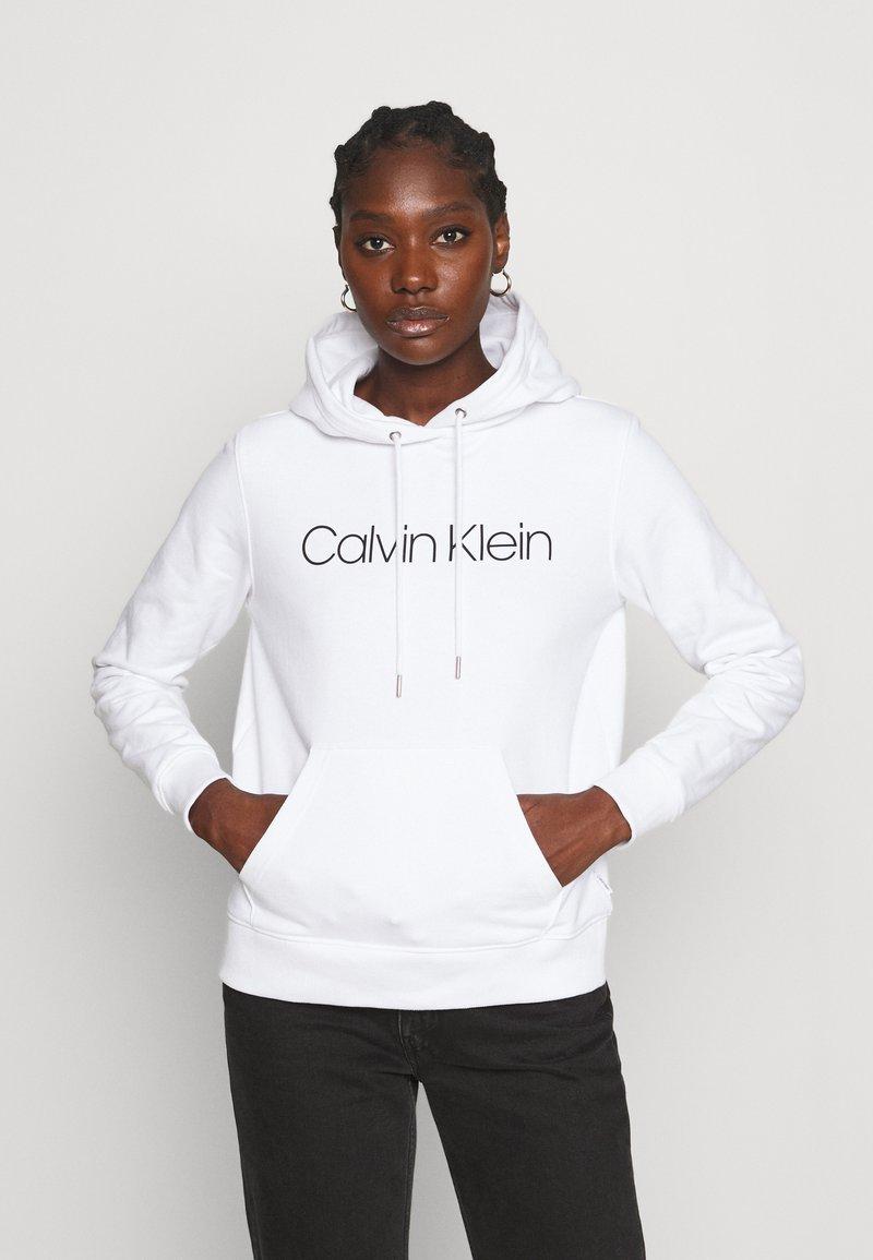 Calvin Klein - CORE LOGO HOODIE  - Hoodie - white