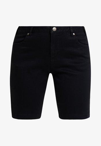 EMILY SLIM LEG - Shorts - black soild