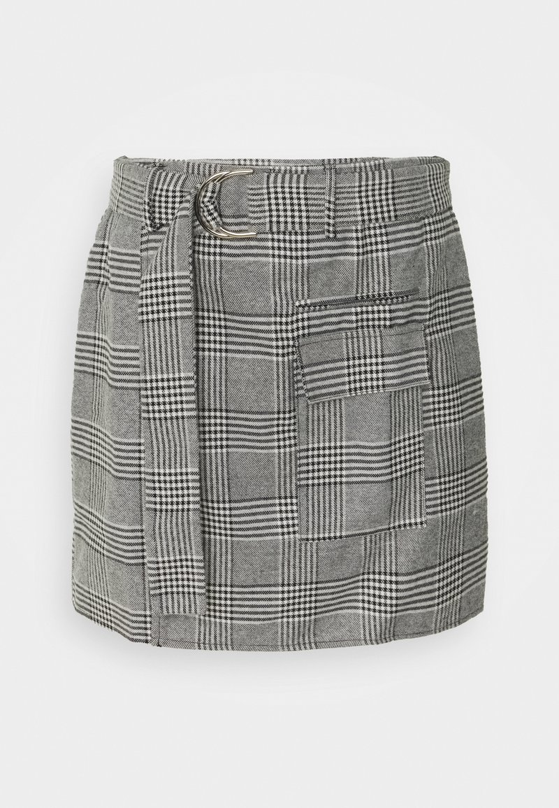 4th & Reckless - CHESTER SKIRT - Mini skirt - grey