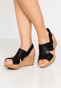 Clarks - ANNADEL  - Platform sandals - black - 0