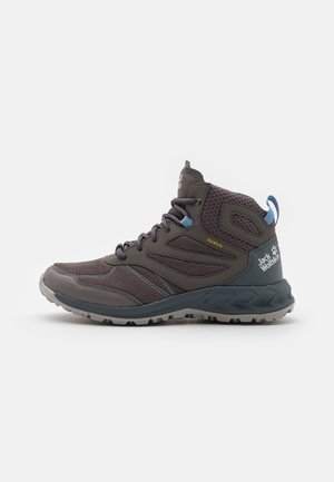 WOODLAND TEXAPORE MID - Hiking shoes - grey/light blue