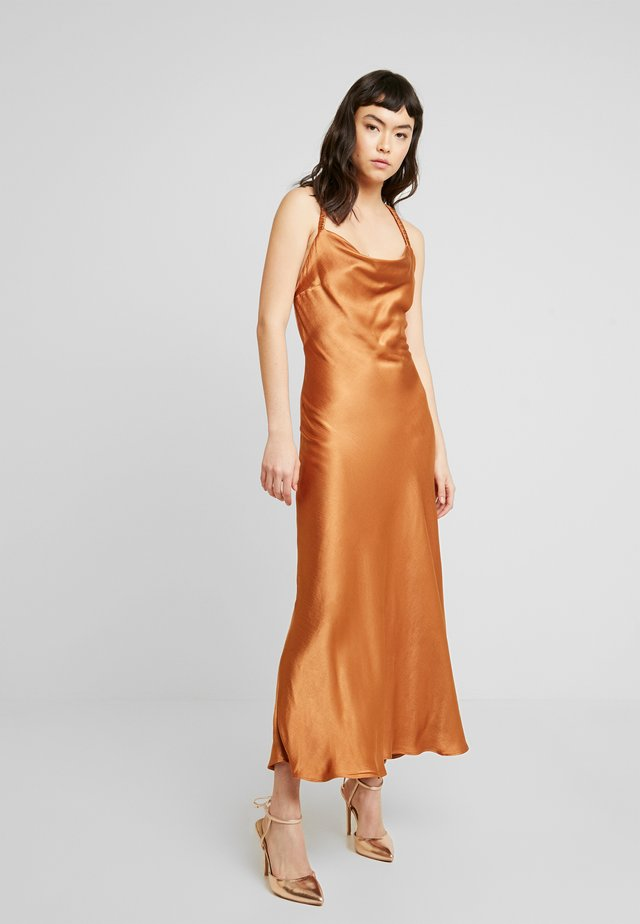 LANI MIDI DRESS - Occasion wear - caramel
