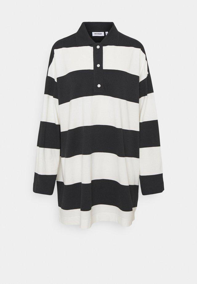 KALANI - Maglietta a manica lunga - off black/white