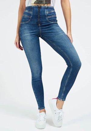 HOHER BUND - Jeansy Skinny Fit - blau