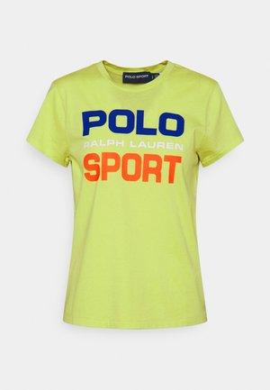 T-shirt med print - bright pear