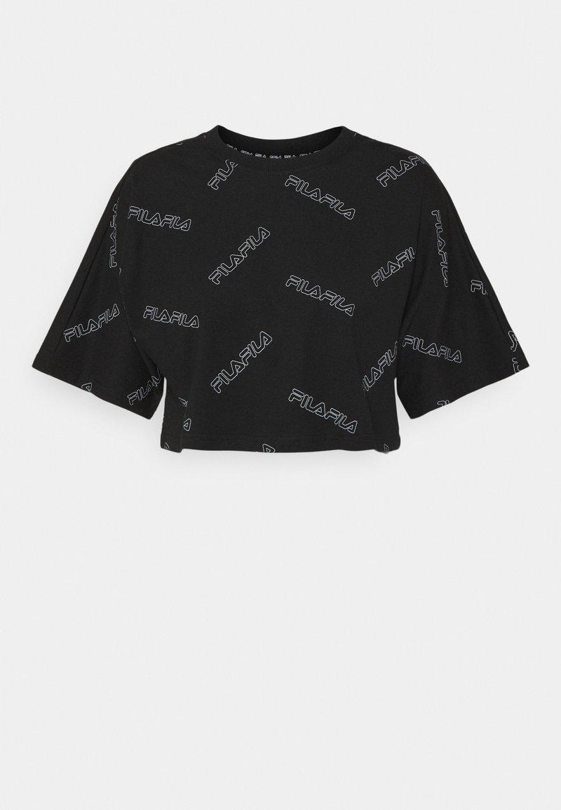 Fila - JAMILIA WIDE CROPPED TEE - Camiseta estampada - black