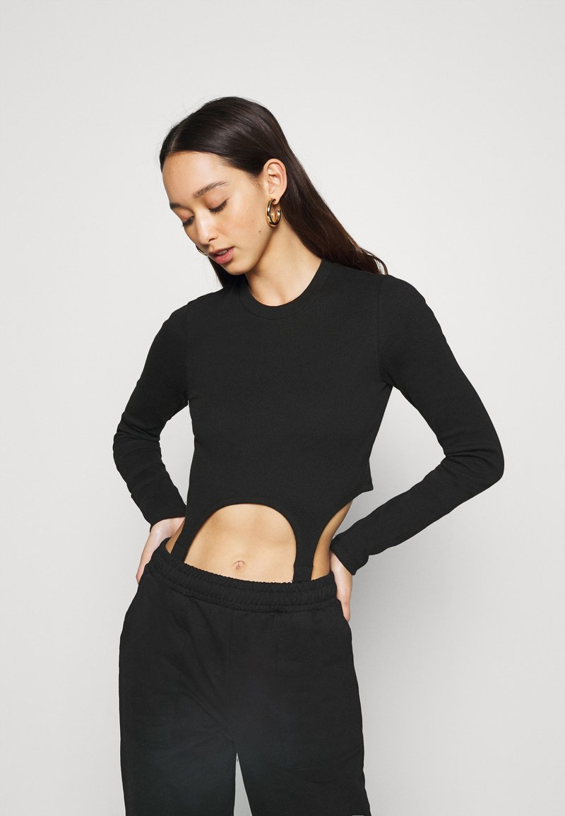 The Ragged Priest - LONGSLEEVE RINGER TRIGGERS - Top s dlouhým rukávem - black