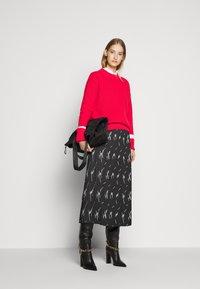 HUGO - RALISSY - Plisovaná sukně - black - 1