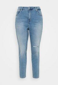 Calvin Klein Jeans Plus - HIGH RISE SKINNY ANKLE - Skinny džíny - denim light - 3