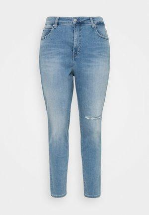 HIGH RISE SKINNY ANKLE - Jeans Skinny - denim light